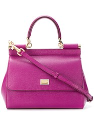 Dolce And Gabbana Sicily Tote Bag Pink And Purple