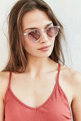 Urban Outfitters Clear Sky Round Sunglasses Pink