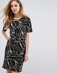 B.Young Silje Printed Dress Black 80001