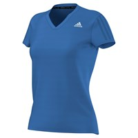 Adidas Response V Neck Running T Shirt Blue