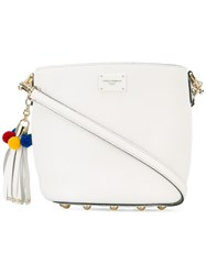 Dolce And Gabbana Bucket Bag Women Cotton Leather One Size White