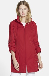 Rainforest Packable Roll Sleeve Anorak Carmine