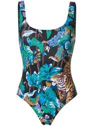 Kenzo Bamboo Tiger Swimsuit Multicolour