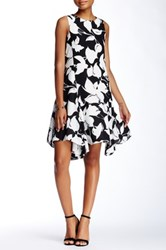 Julia Jordan Sleeveless Floral Trapeze Dress No Color