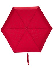 Moschino Mini Logo And Bear Print Umbrella Red