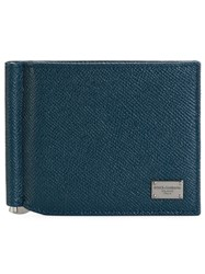 Dolce And Gabbana Classic Billfold Wallet Blue