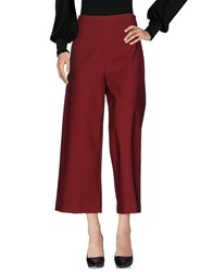 Anonyme Designers Casual Pants Maroon