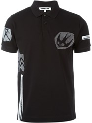 Mcq By Alexander Mcqueen Mcq Alexander Mcqueen 'Swallow Woodcut' Polo Shirt Black