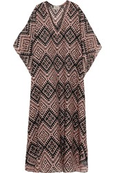 Temperley London Printed Cotton And Silk Blend Kaftan Black