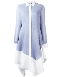 Antonio Berardi Flared Shirt Dress Blue