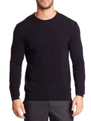 Sand Pique Knit Sweater Navy