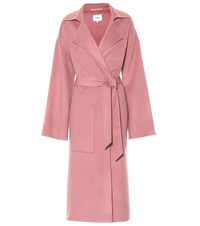 Nanushka Alamo Wool And Silk Coat Pink