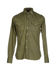 Jaggy Shirts Shirts Men Military Green