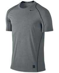 Nike Pro Cool Fitted Dri Fit Shirt Carbon Heather Black