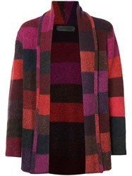 The Elder Statesman Italy Smoking Striped Cardigan Unisex Cashmere S Red