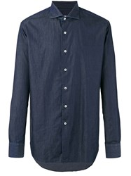 Alessandro Gherardi Spread Collar Shirt Blue