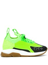 Versace Cross Chainer Sneakers Green