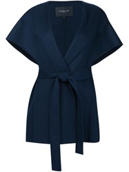 Derek Lam Oversized Sleeveless Jacket Blue