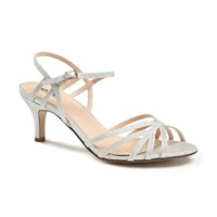 Paradox London Pink Harper Two Part Mid Heel Sandals Silver