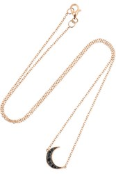 Andrea Fohrman Luna 18 Karat Rose Gold Diamond Necklace One Size