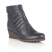 Lotus Zahira Leather Ankle Boots Blue