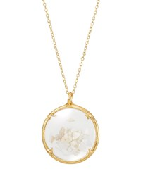 Catherine Weitzman Shaker Birthstone Pendant Necklace June