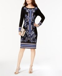 Inc International Concepts Printed Dress Created For Macy's Black