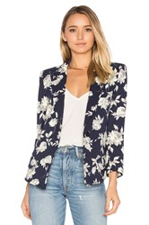 Smythe Sharp Shoulder Blazer Navy