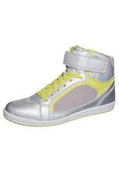 Evenandodd Hightop Trainers Silver Neon Yellow