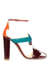 Camilla Elphick 105Mm South Pvc And Patent Leather Sandals