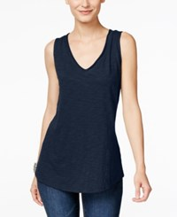Inc International Concepts V Neck Tank Top Only At Macy's Deep Twilight