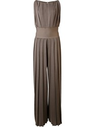 By. Bonnie Young Pleated Jumpsuit Brown