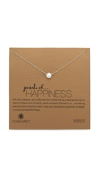 Dogeared Happiness Necklace Pearl Gold
