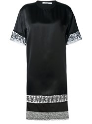 Givenchy Lace Panel T Shirt Dress Black