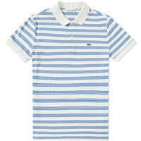 Lacoste Stripe Jersey Polo White