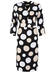 Planet Multi Spot Woven Dress Black Multi