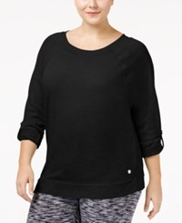 Calvin Klein Performance Plus Size Dolman Sleeve Tunic Black