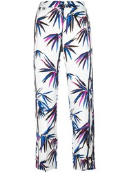 Emilio Pucci Tree Print Cropped Trousers White