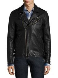 Iro Zip Front Lambskin Leather Jacket Black