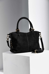 Ecote Fern Suede Tote Bag Black
