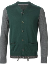 Sacai Drawstring Cardigan Green
