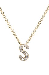 Bony Levy Women's Pave Diamond Initial Pendant Necklace Nordstrom Exclusive Yellow Gold S