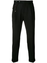 Berwich Tapered Trousers Black
