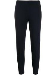 Les Copains Slim Fit Cropped Trousers Blue