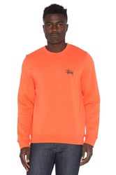 Stussy Basic Crew Orange