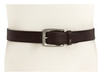 John Varvatos 38Mm Strap With Leather Covered Hand Stitch Brown Leather Nickel Men's Belts