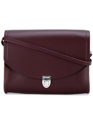 The Cambridge Satchel Company Large 'Push Lock' Shoulder Bag Red