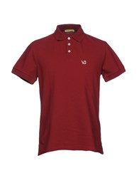 Versus By Versace Polo Shirts Brick Red
