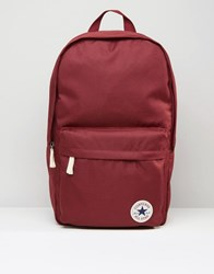 Converse Camo Patch Backpack In Red Red Green