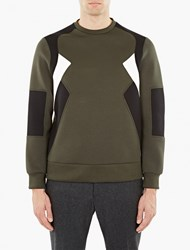 Neil Barrett Green Retro Modernist Sweatshirt